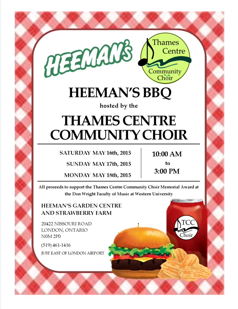 Heeman's BBQ Hosted by the TCC Choir